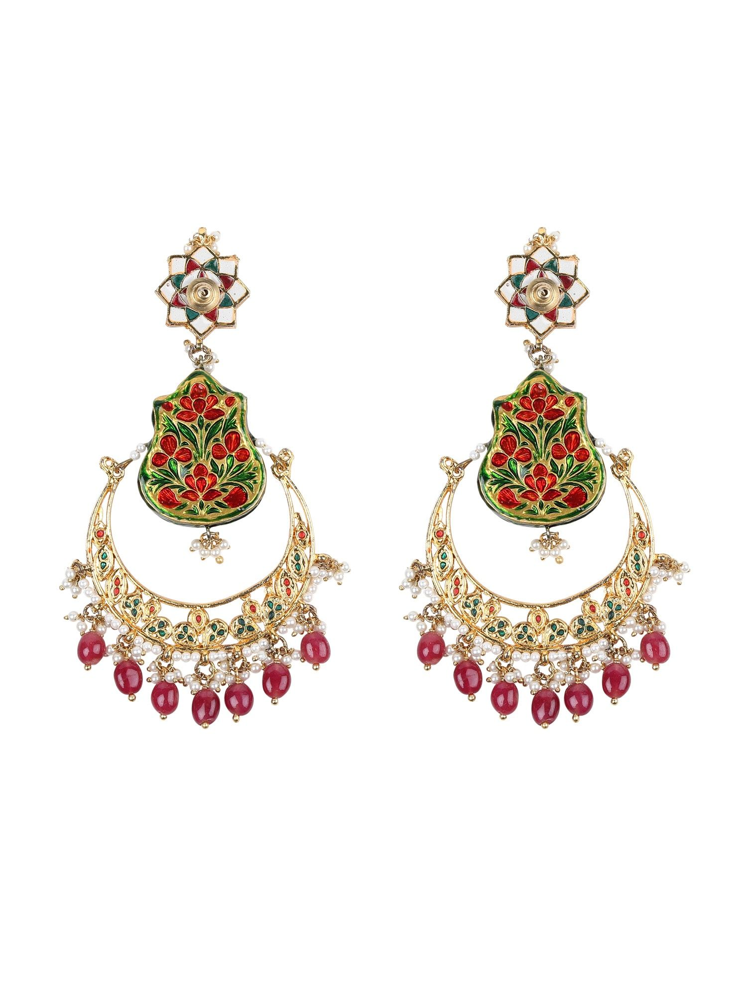d6baa55e8 TAD Accessories Earrings : Buy TAD Accessories Blue And Red Meena ...