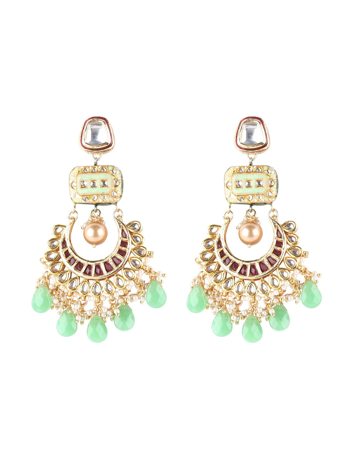 9b4b16155 TAD Accessories Earrings : Buy TAD Accessories Meenakari Chand ...