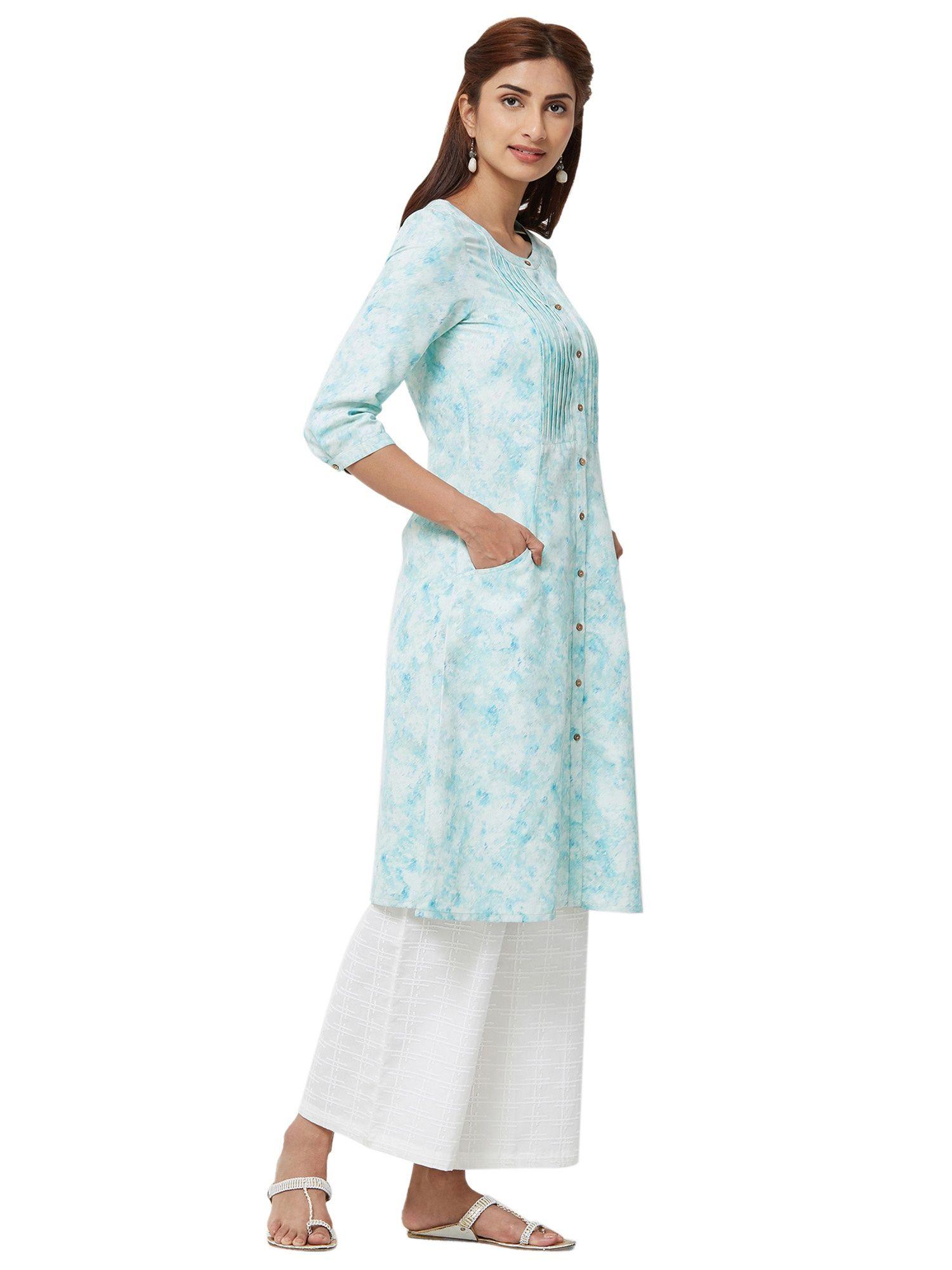 8b8d55134c6 Naari Kurtis Kurtas and Tunics : Buy Naari Light Green 3/4th Sleeve ...