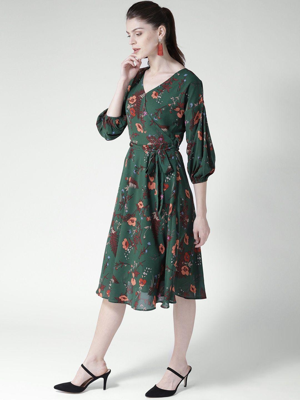 f5f5ebdb8358c Twenty Dresses Green Wrap Yourself In Florals Midi Dress