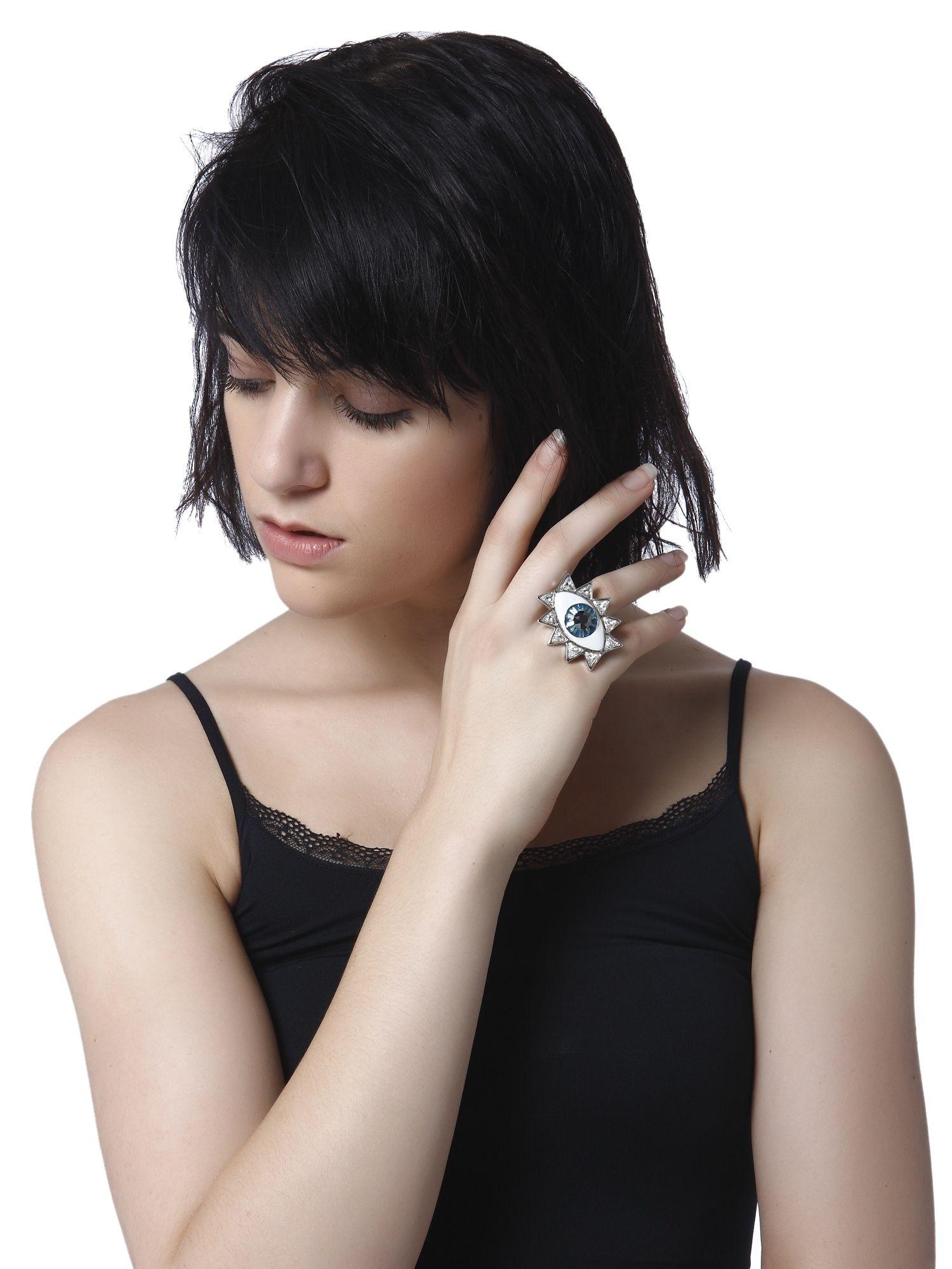 88b106f37 Valliyan Rings : Buy Valliyan Evil Eye Ring Online | Nykaa Fashion.