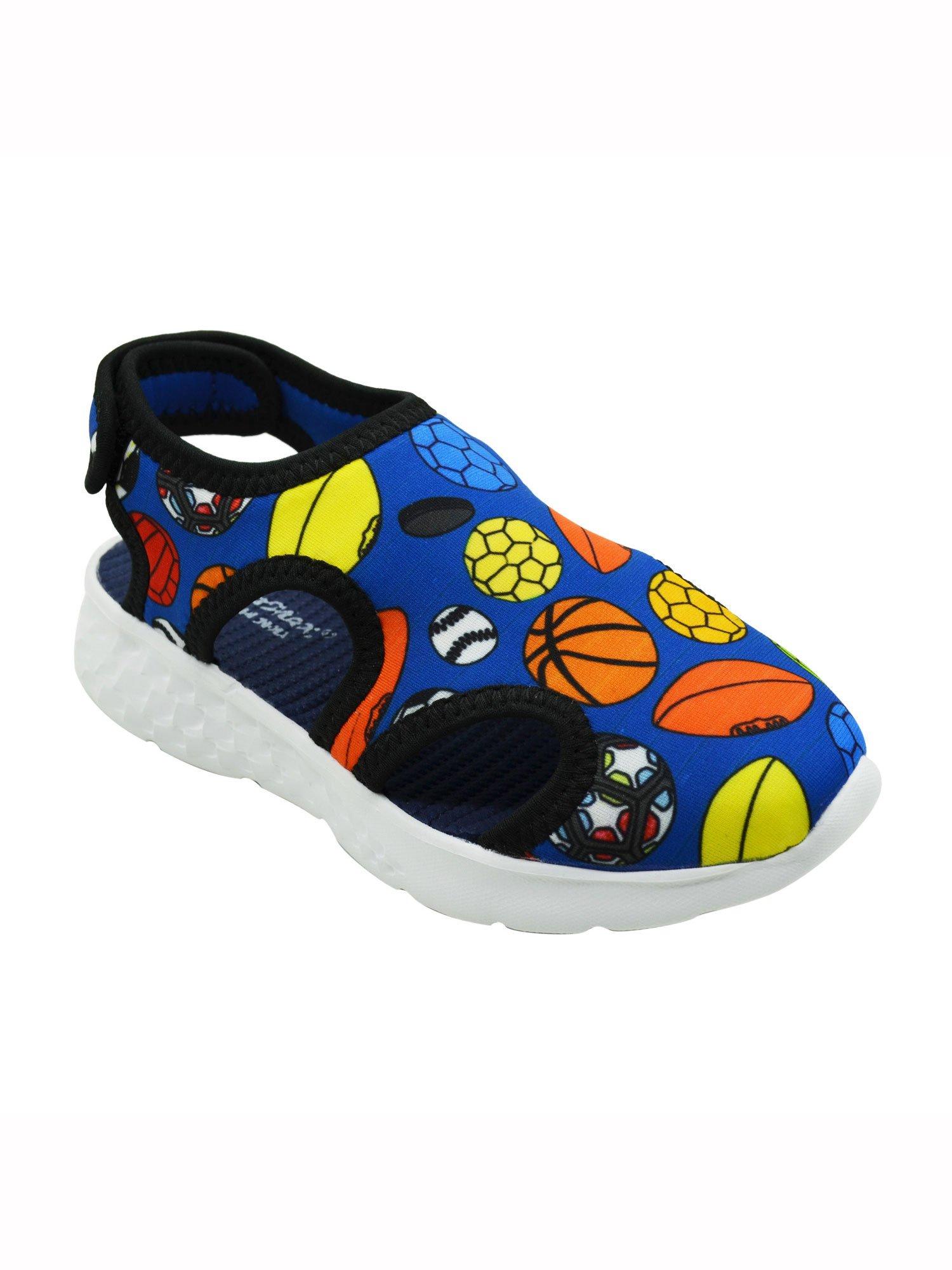 Buy KazarMax Blue Printed Sandals