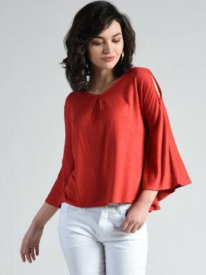 Aara Shirts Tops and Crop Tops : Buy Aara Red Tent V-Neck ...