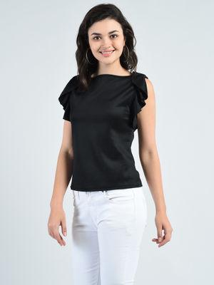 Aara Shirts Tops and Crop Tops : Buy Aara Black Polyester ...