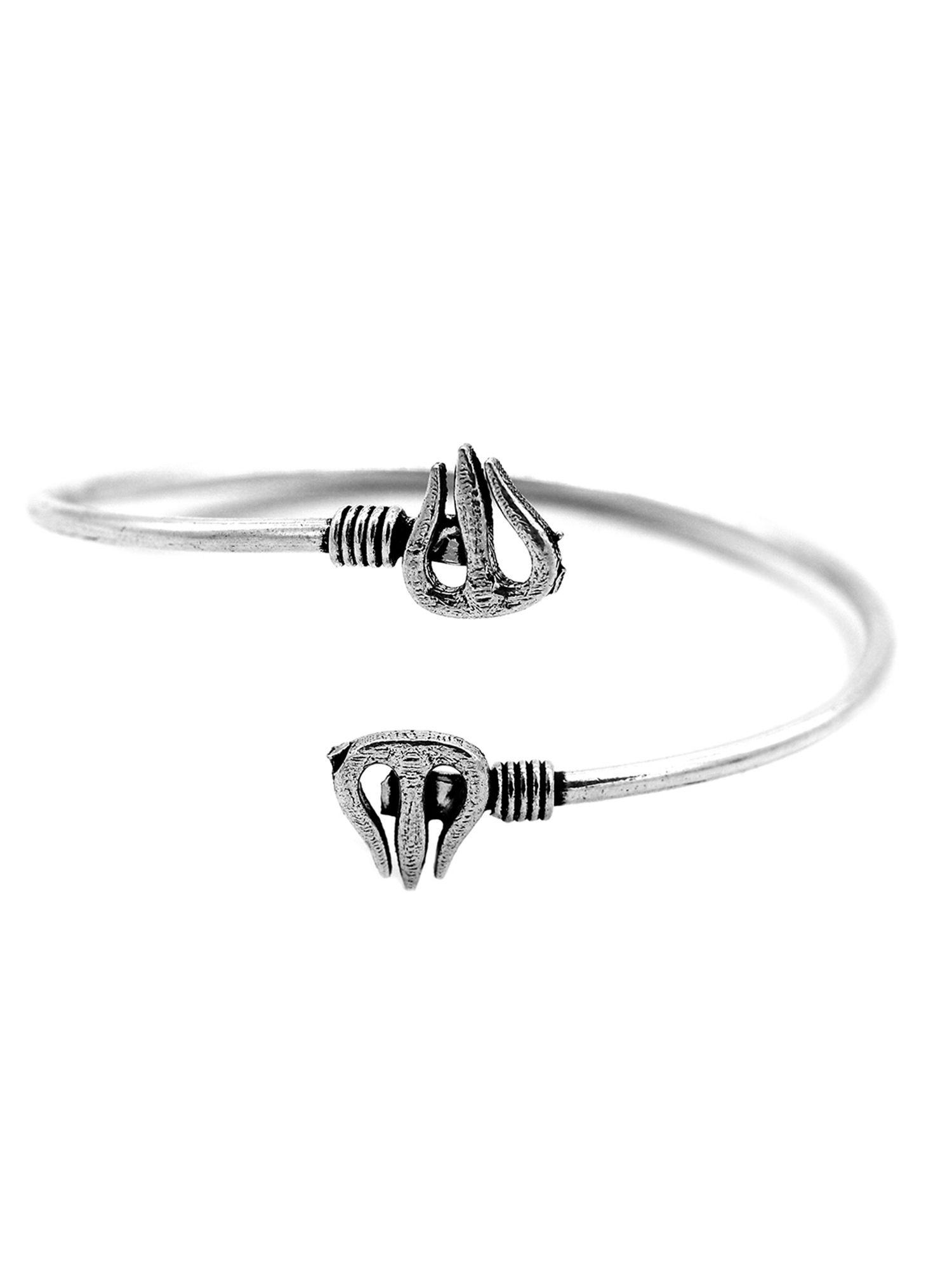 Black Bella Toe Ring in Oxidized German Silver