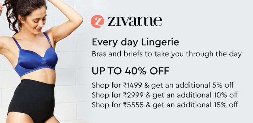 Zivame Lingerie: Buy Zivame Bras, Panties & Shapewear Online - upto 60% off  | Nykaa Fashion