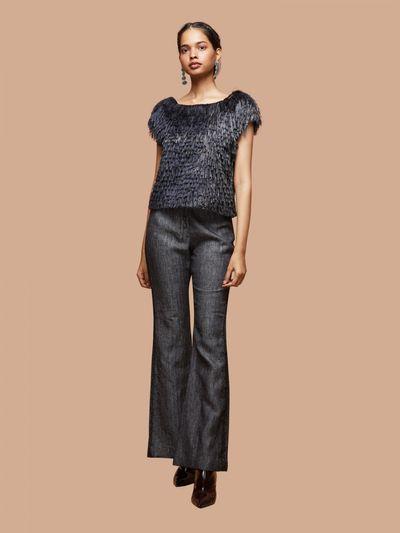 78101520d Taaka Bottoms Pants and Trousers : Buy Taaka Grey Clam Digger Pants ...