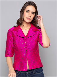 Fuchsia Jacket Blouse