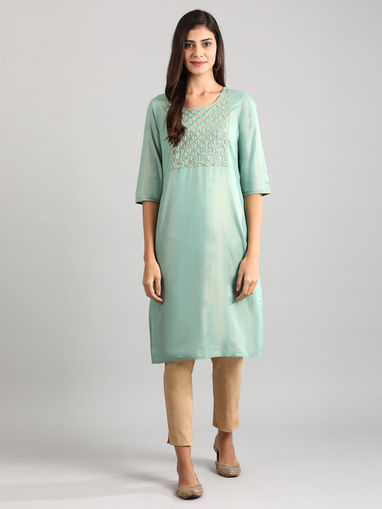 Indya Ethnic Dresses : Buy Indya Earthen Green Colorblock Tasselled Maxi  Dress Online   Nykaa Fashion.