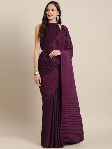XOXO by Neti Jolly Sarees : Buy XOXO by Neti Jolly Maroon ...