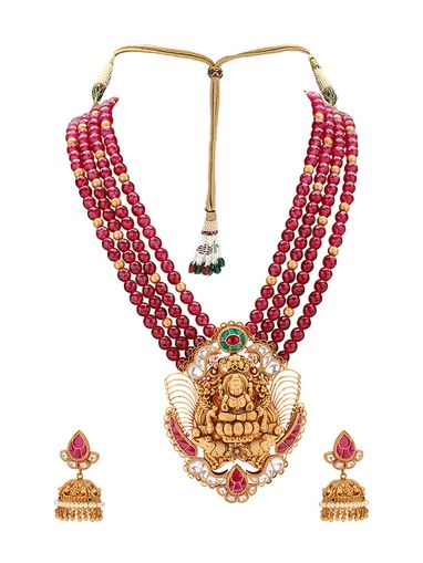 Joules By Radhika Jewellery Sets Buy Joules By Radhika Gold Plated Coraline Necklace With Earrings Online Nykaa Fashion