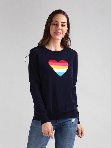 GAP Cardigans & Sweaters : Buy GAP Navy Blue Polka Dots