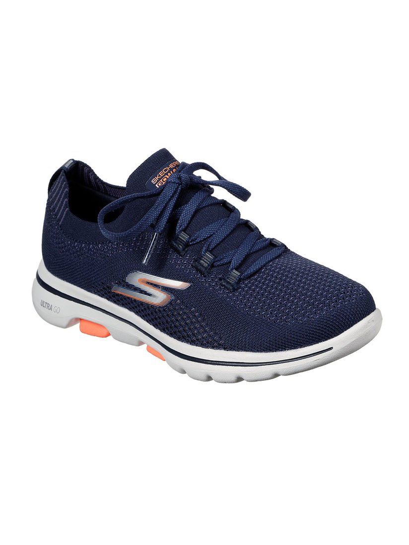 SKECHERS Navy Blue Solid Running Shoes