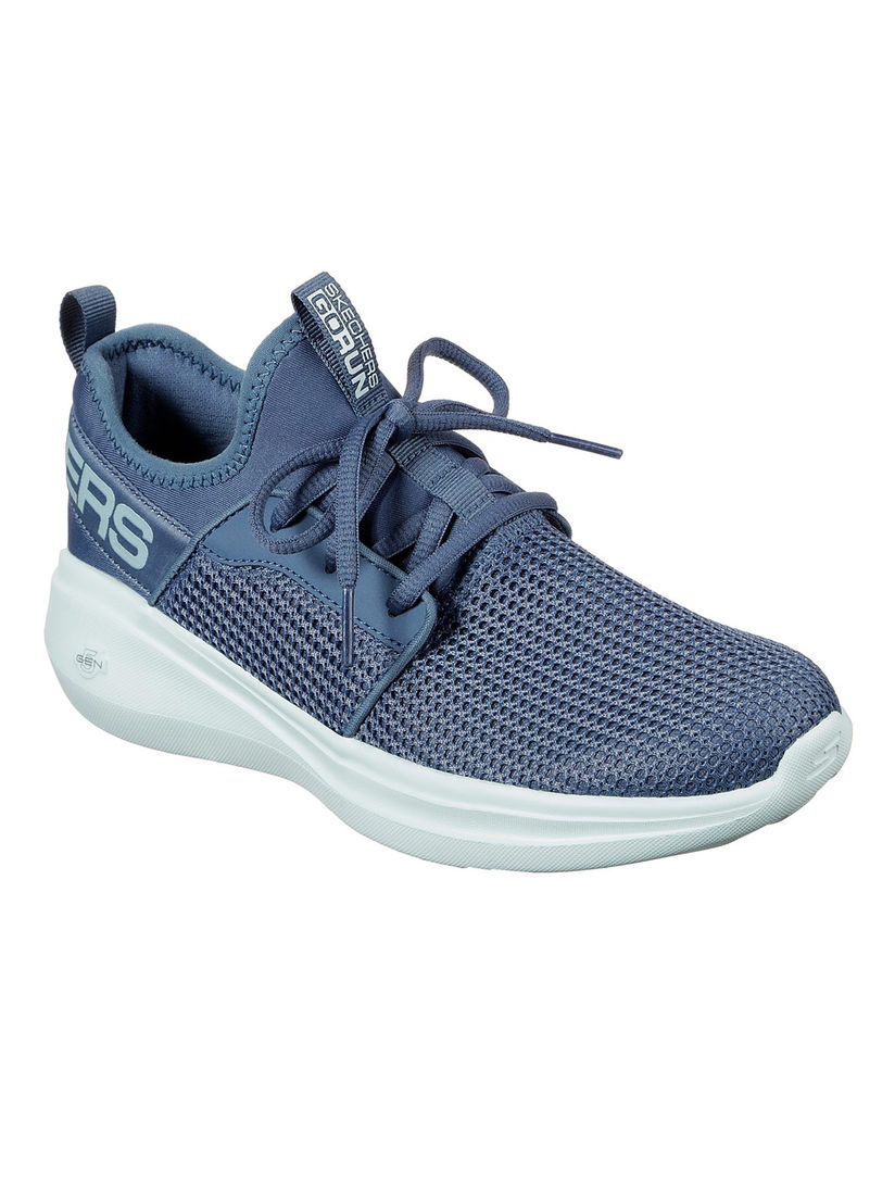 Buy SKECHERS Blue Solid Running Shoes