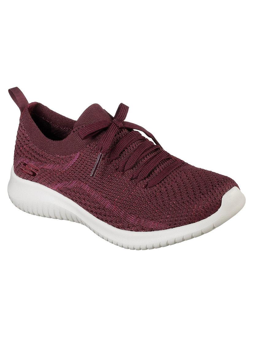 Buy SKECHERS Maroon Solid Running Shoes
