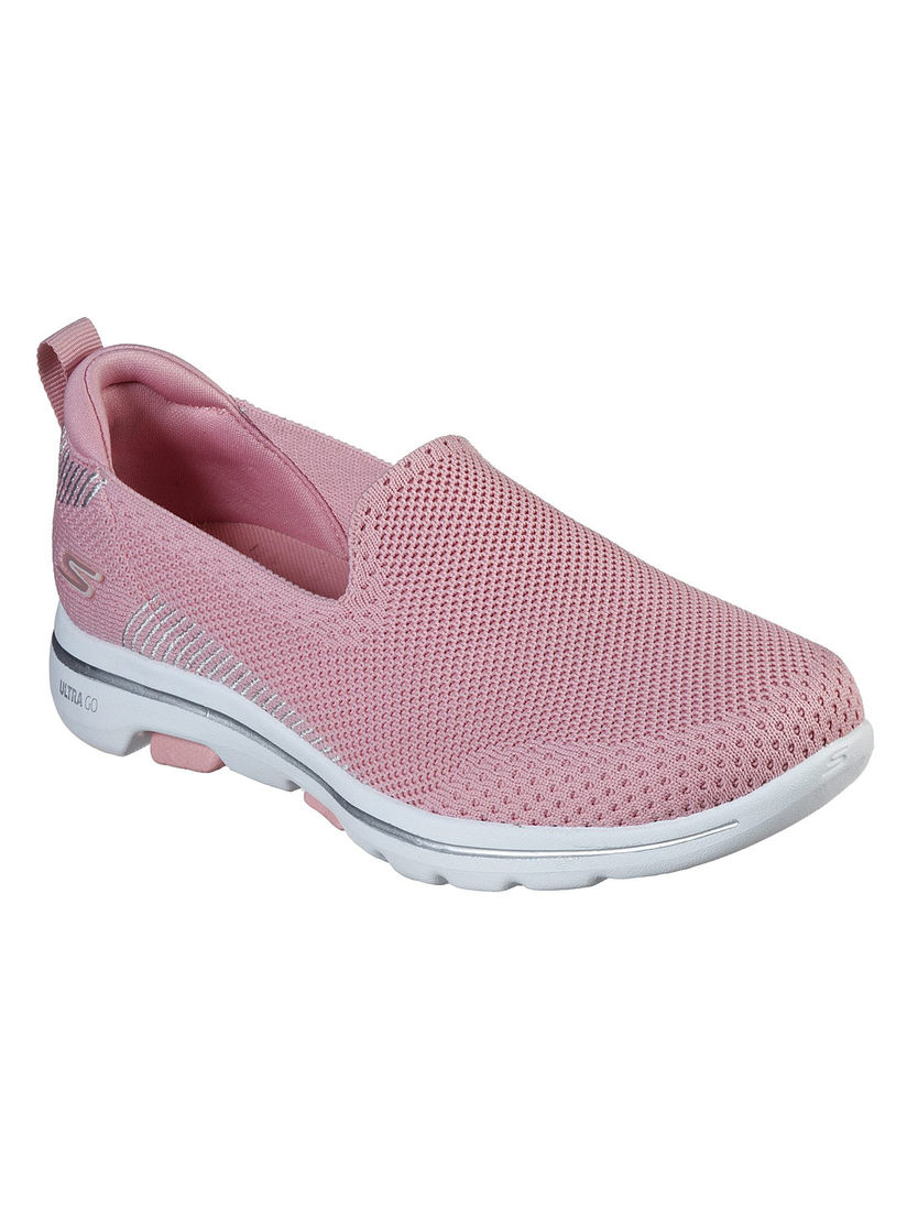 Buy SKECHERS Pink Solid Running Shoes