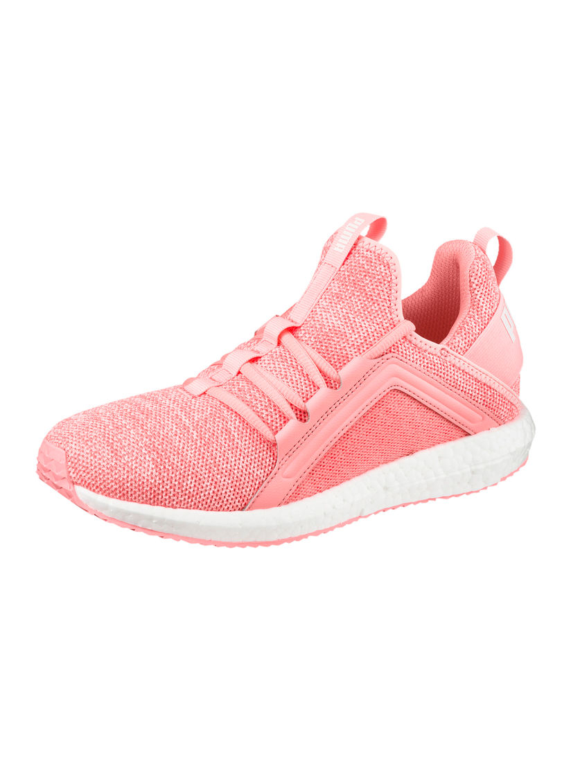 Puma Pink Mega NRGY Knit Running Shoes