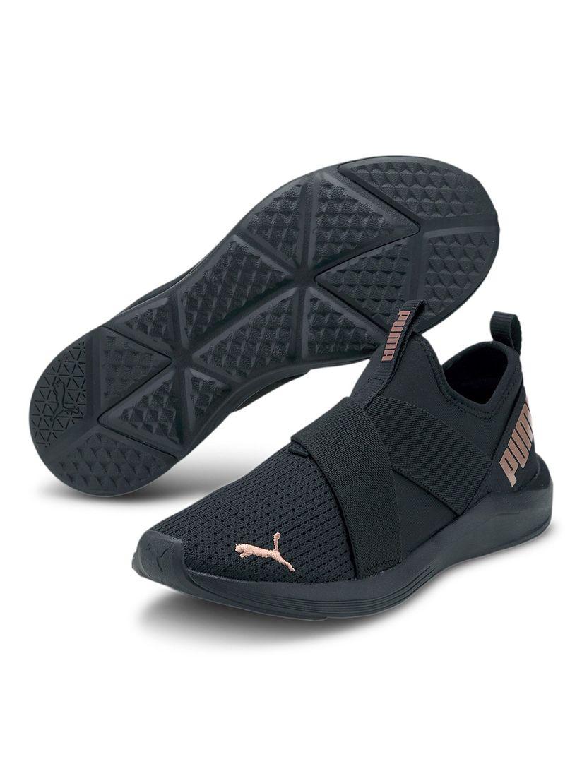 puma black slip on