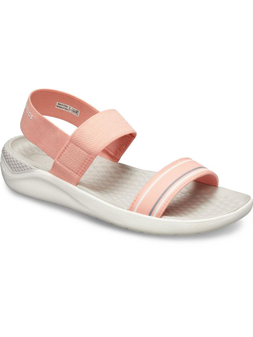 peach crocs