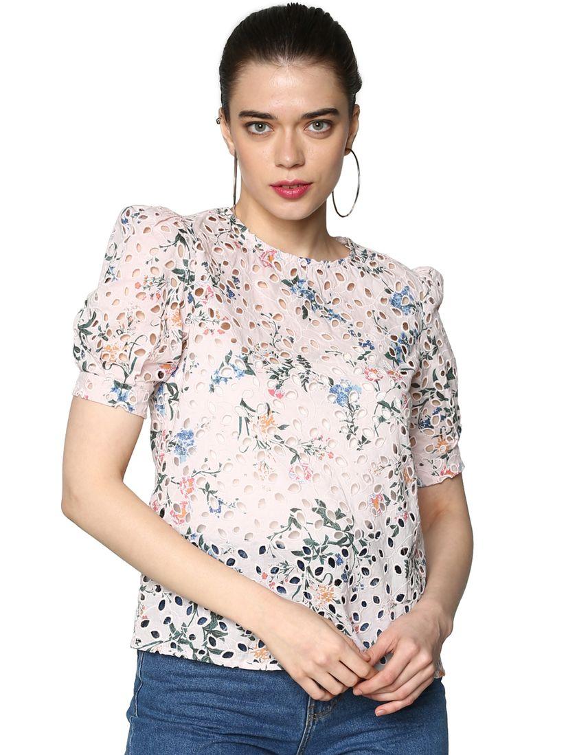 lässige Schuhe beste Auswahl von 2019 diversifiziert in der Verpackung ONLY Shirts Tops and Crop Tops : Buy ONLY Pink Cut Work Floral Print Top  Online | Nykaa Fashion.