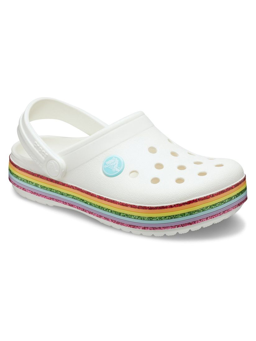 Crocs Kids Clogs : Buy Crocs White Crocband Girls Clogs Online | Nykaa  Fashion.