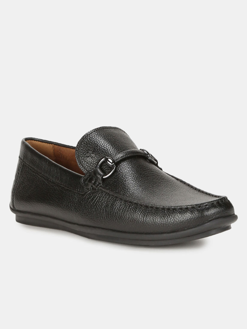 Buy Arrow Lincoln Black Solid Loafers