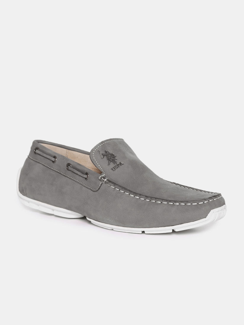 Buy U.S. POLO ASSN. Grey Miguel Loafers