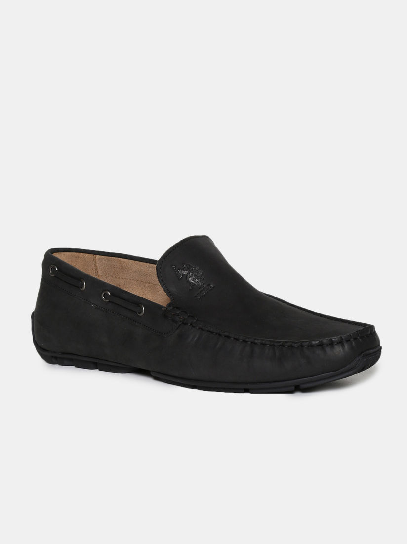 black polo loafers