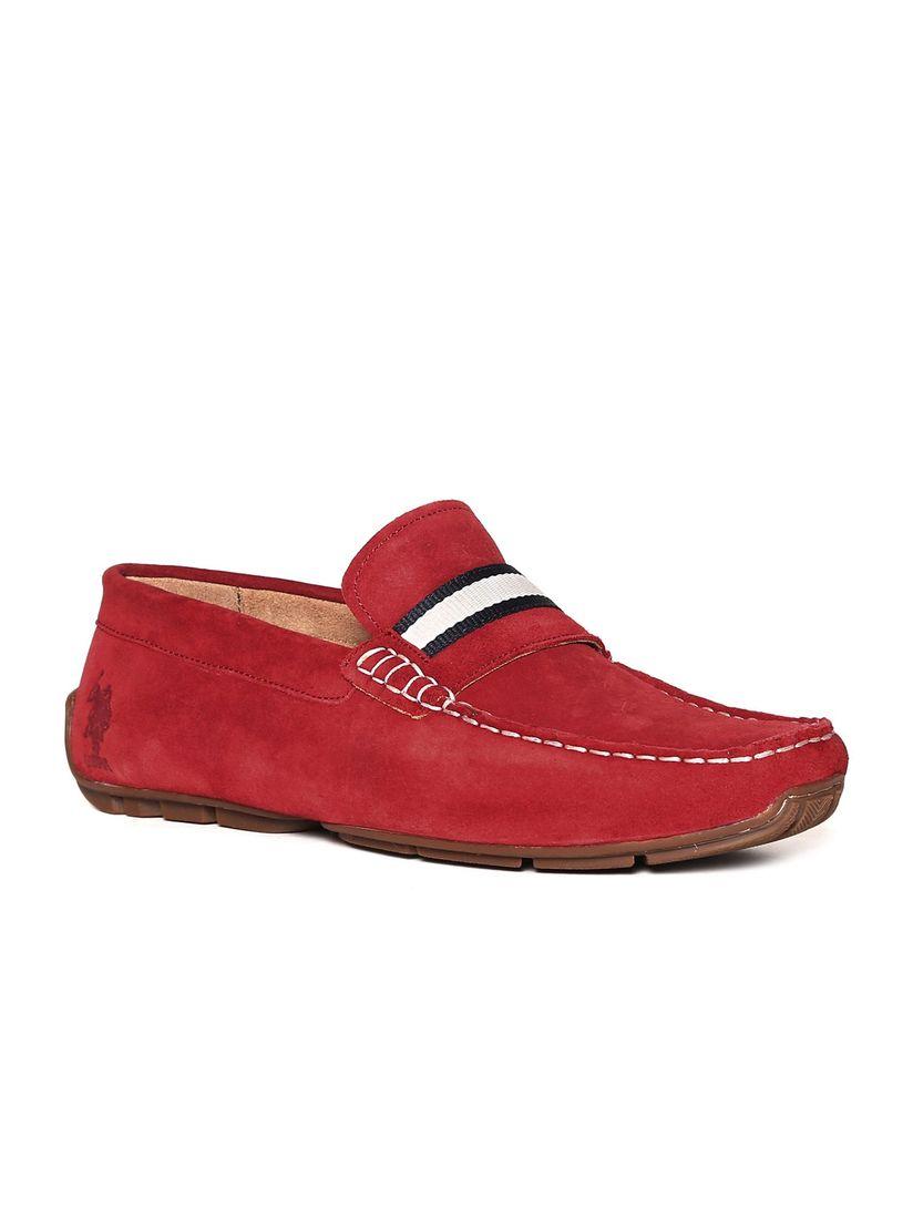 U.S. POLO ASSN. Red Ortega Loafers (UK