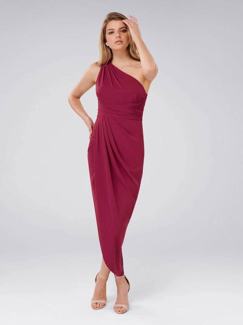 Forever New Dresses Buy Forever New Red Plum Mandy One Shoulder Drape Dress Online Nykaa Fashion