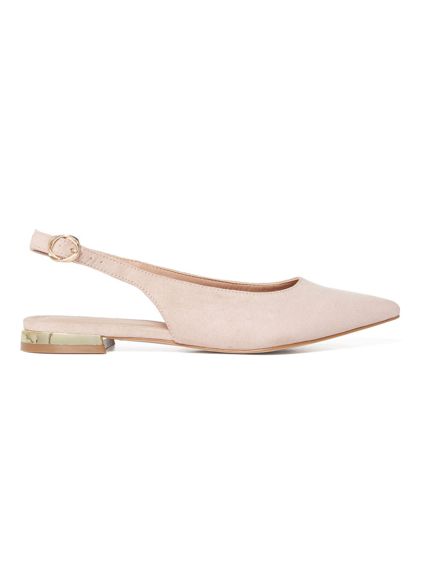 Forever New Sandals Buy Forever New Dakota Pink Metal Trim Pointed Flat Sandals Online Nykaa Fashion