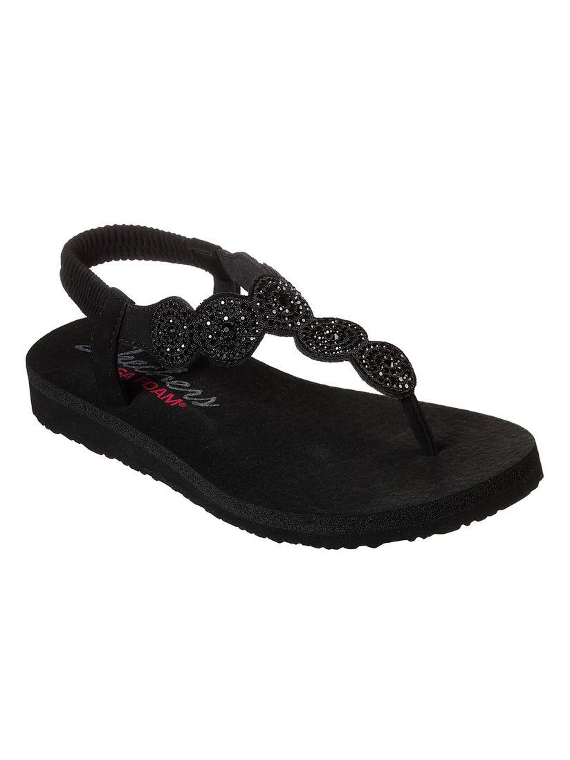 sparkle black sandals