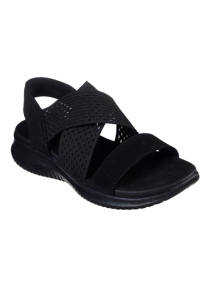 Buy SKECHERS Black Embellished Sandals