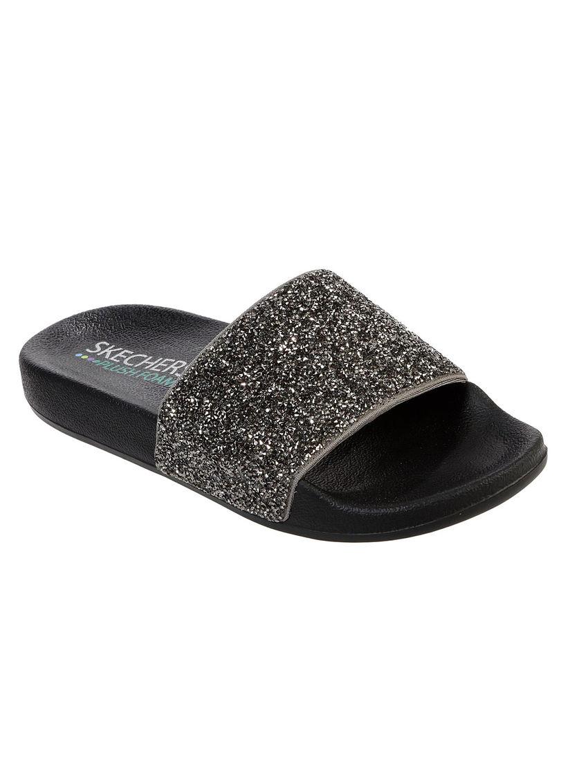 Buy SKECHERS Grey Embellished Flipflops