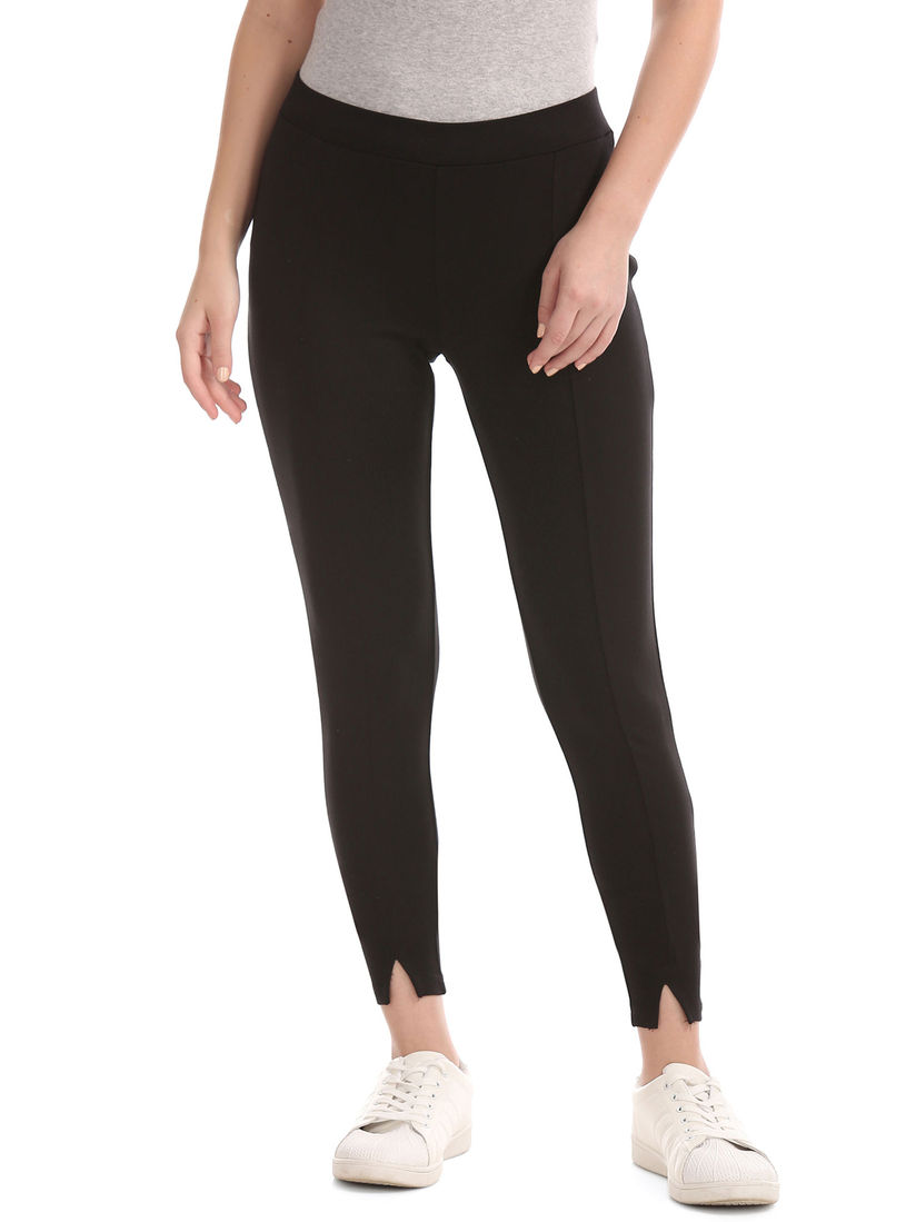 Gap Jeans And Jeggings Buy Gap Black Solid Mid Waist Jegging Online Nykaa Fashion