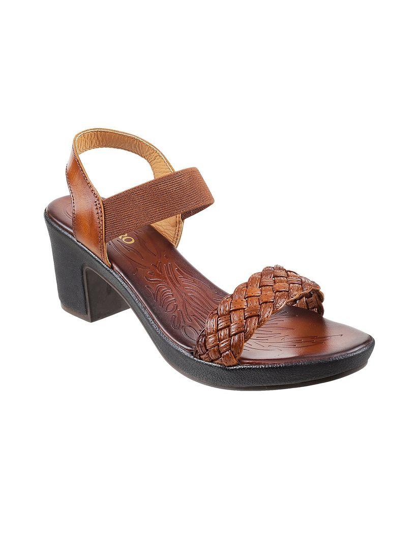 Buy Metro Women's Brown Casual Sandals