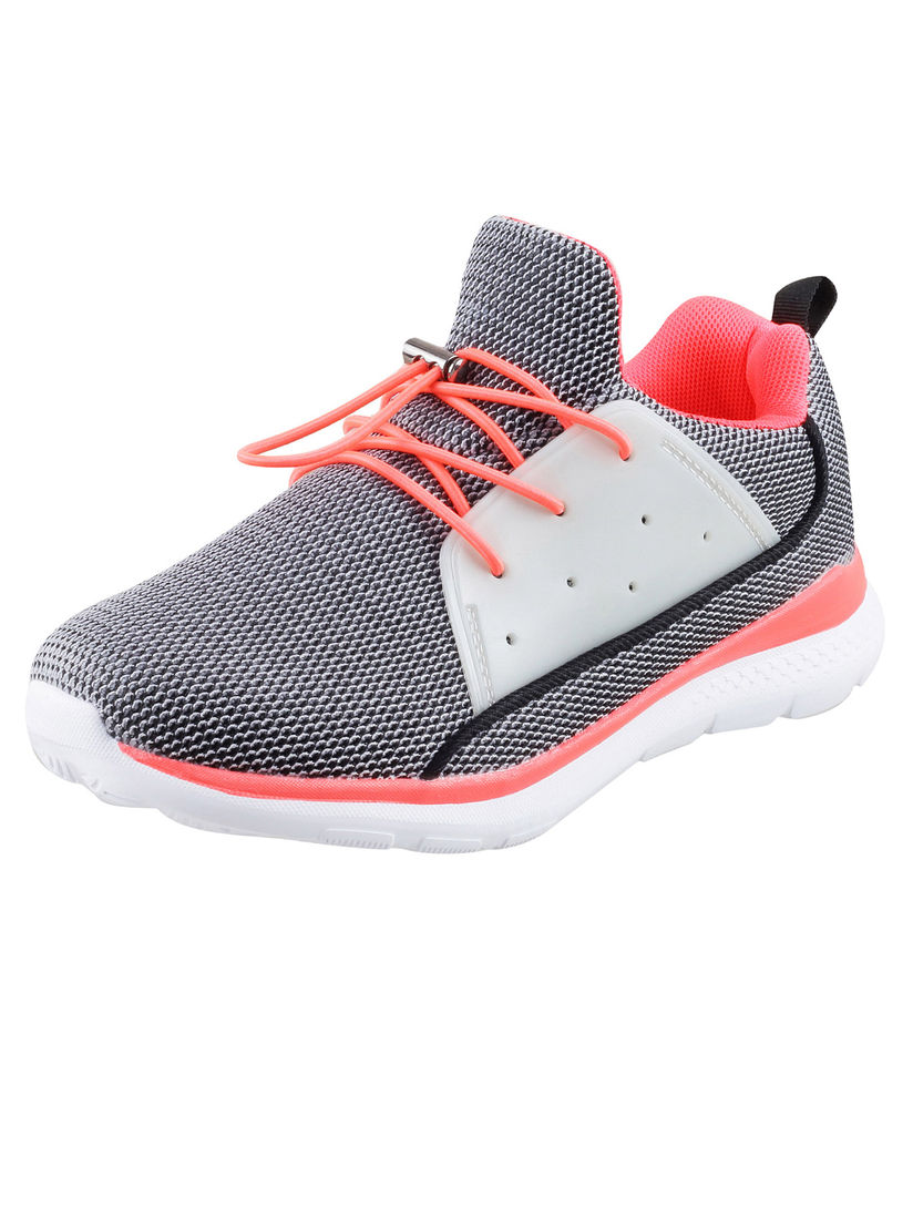 Buy Mochi Grey Red Sport Shoes Online