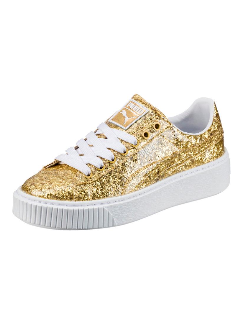 Puma Gold Embellished Unisex Sneakers
