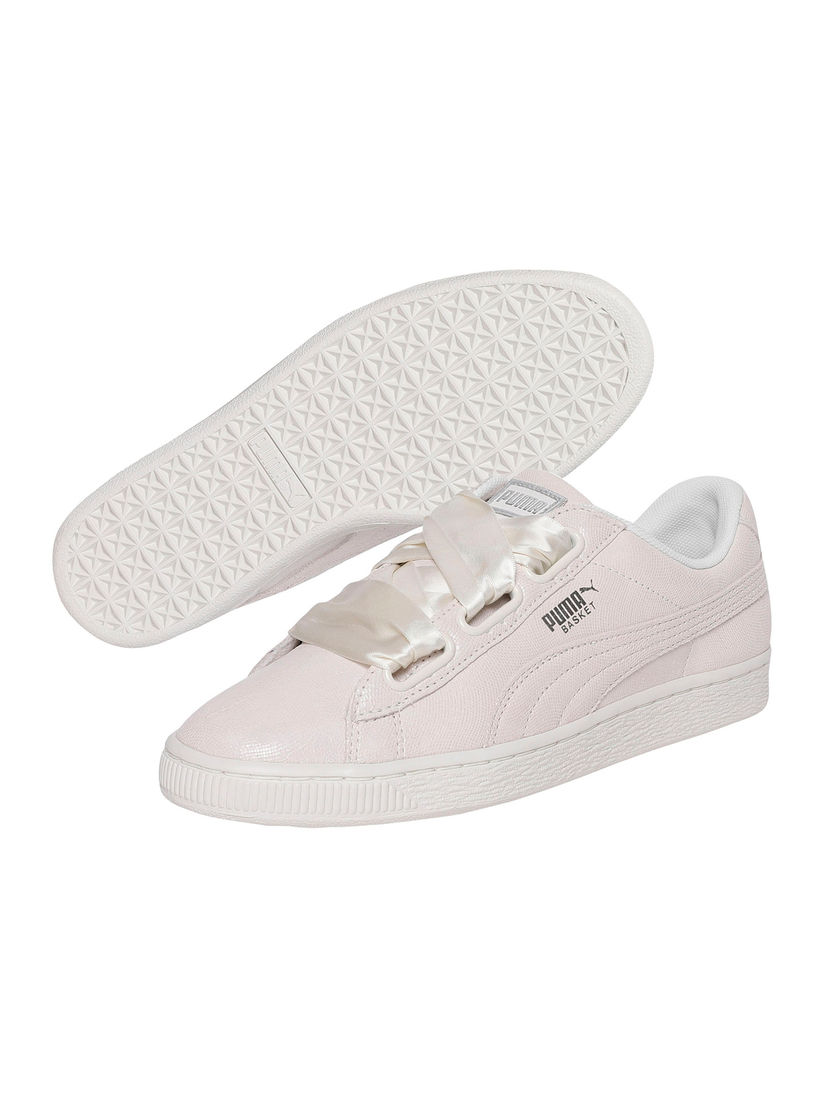Puma Off White Basket Heart NS Sneakers