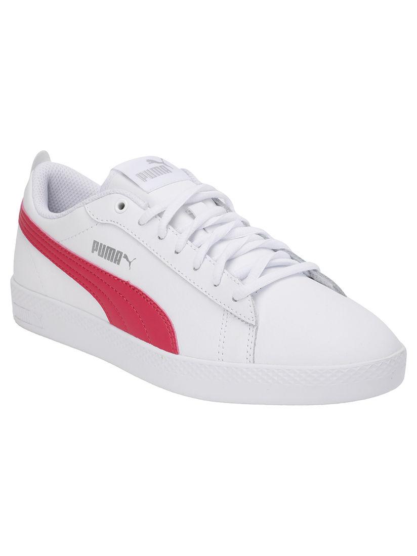 Puma White Smash V2 Leather Sneakers