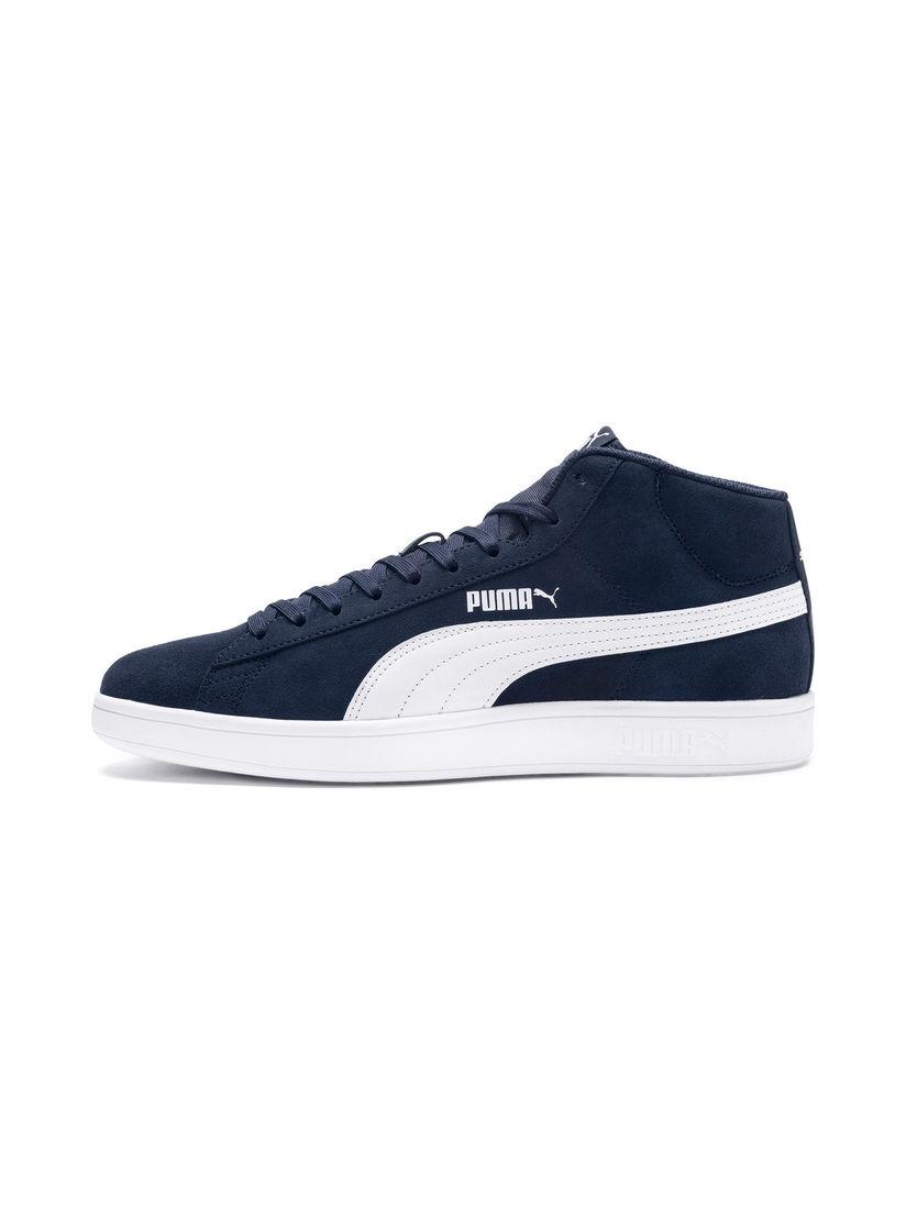 PUMA Navy Blue Smash v2 Mid SD Sneakers