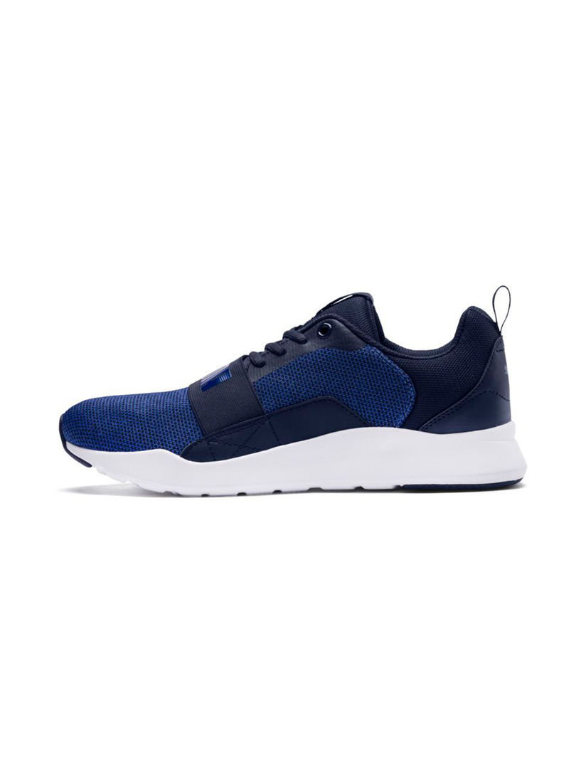 Buy PUMA Navy Blue Wired Knit Sneakers