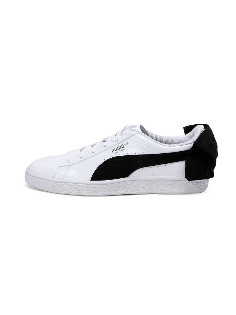 Buy PUMA White Basket Bow SB Sneakers