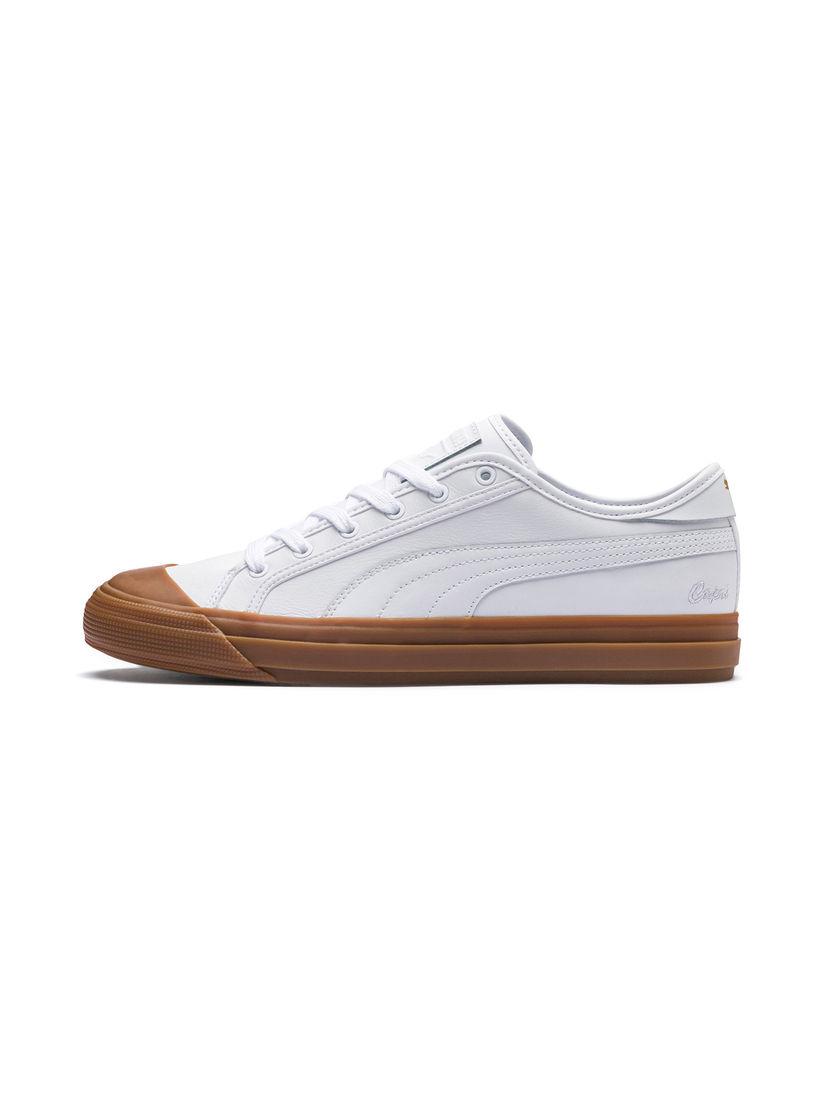 Buy PUMA White Capri Leather Sneakers