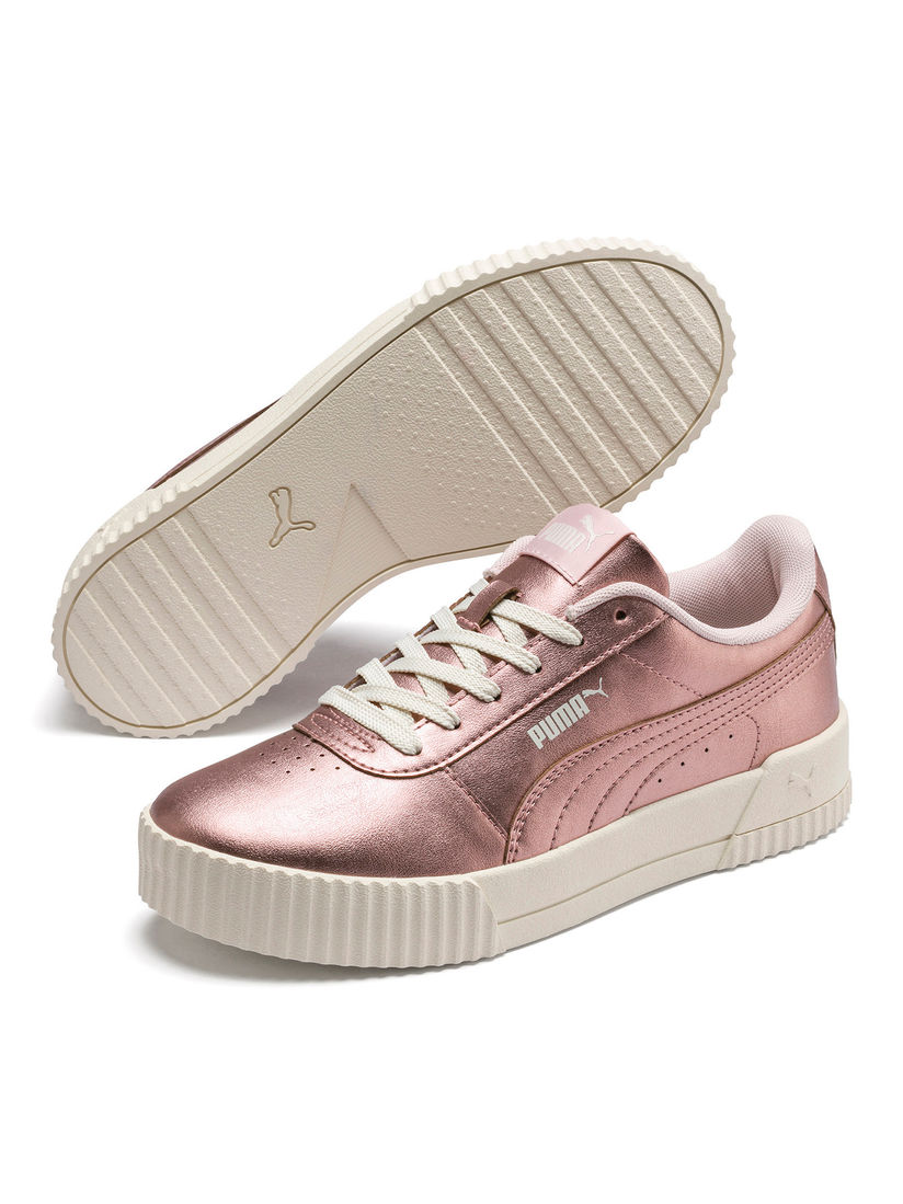 Doblez cascada A la verdad  Puma Sports Shoes & Sneakers : Buy Puma Rose Gold Carina Metallic Sneakers  Online | Nykaa Fashion.