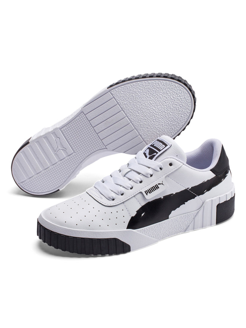 Buy Puma White Cali Brushed Sneakers