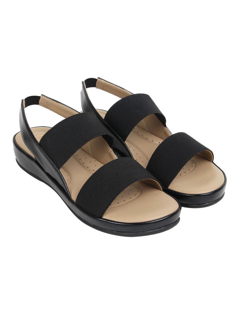 Buy Catwalk Black Solid Sandals Online