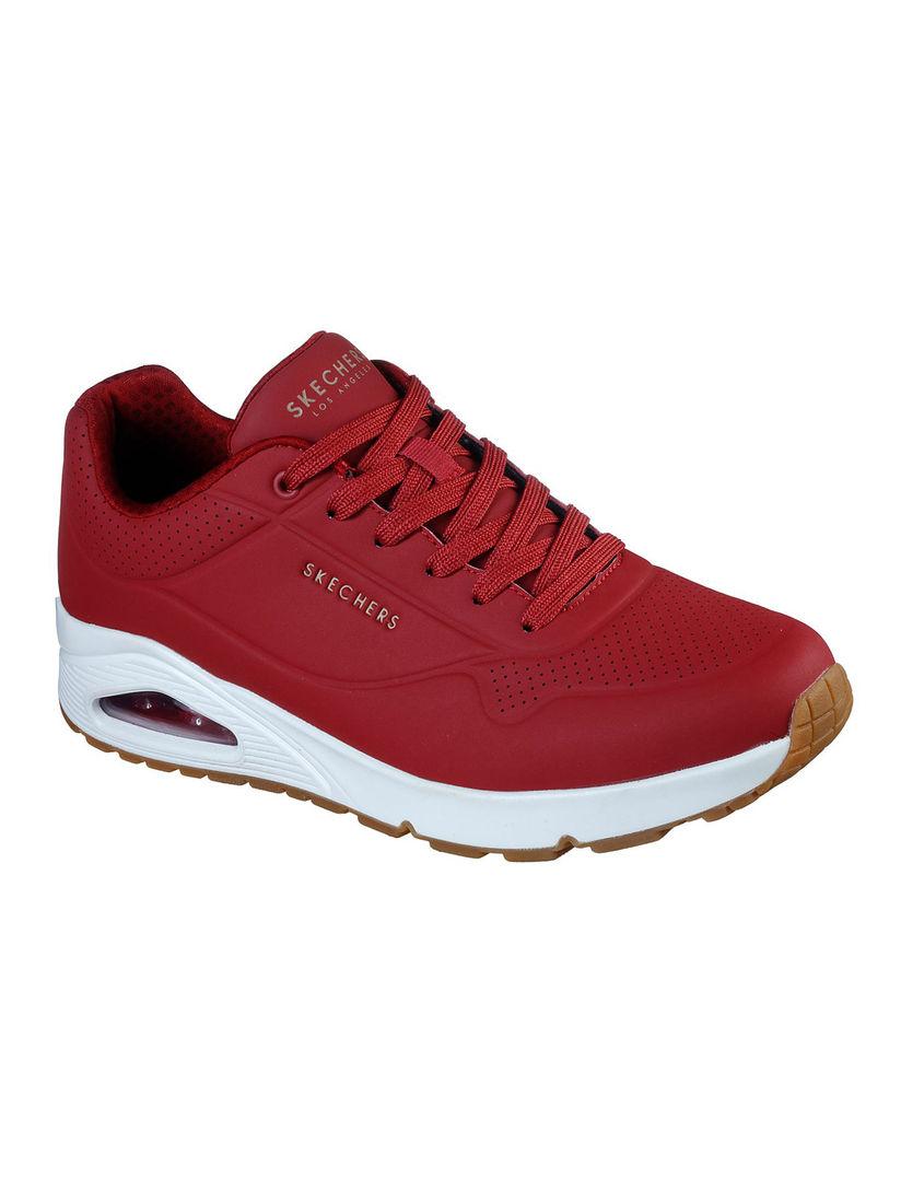 Buy SKECHERS Uno Stand On Air Dark Red