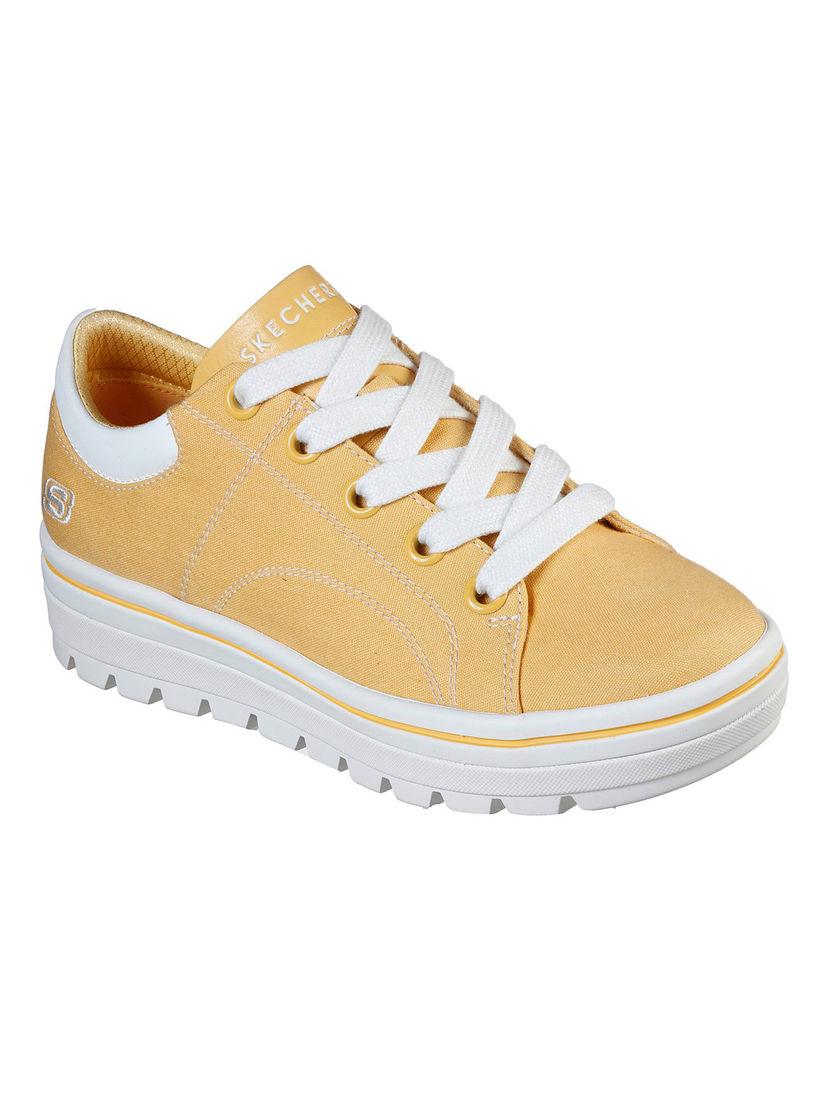 Buy SKECHERS Yellow Solid Sneakers