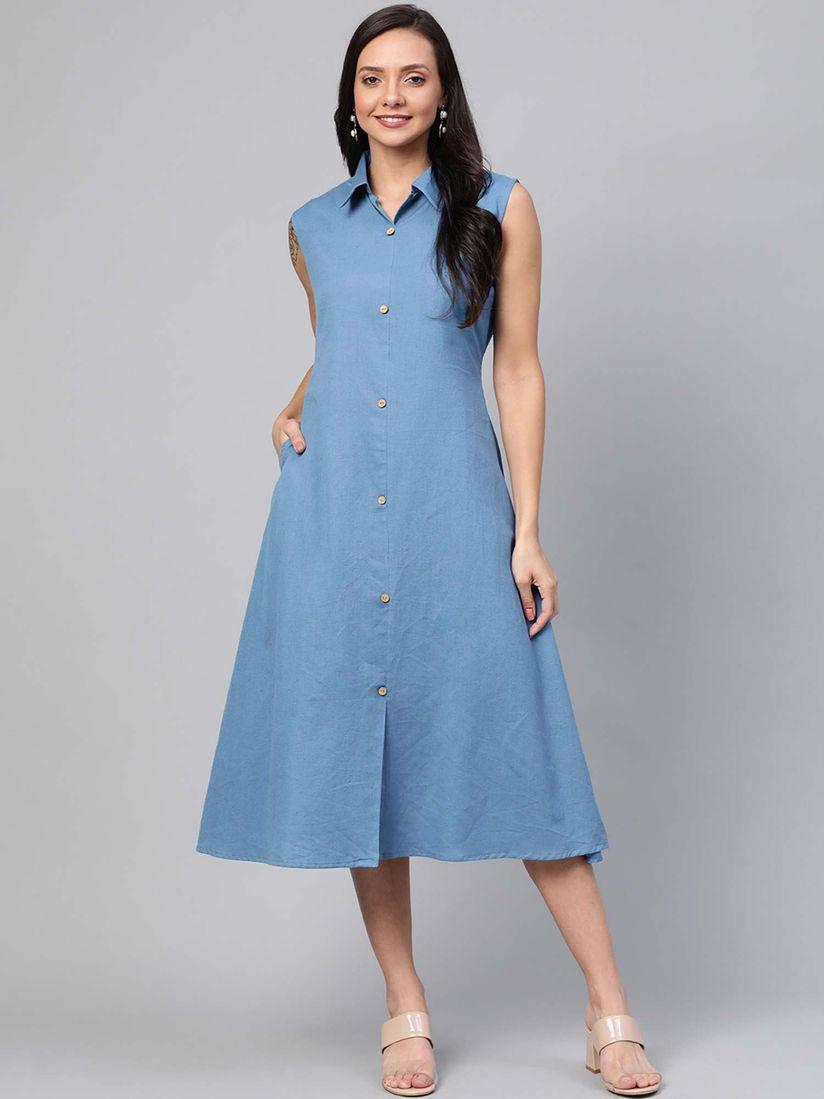 IF International Fashion 70s Button Up Belted Sz 10 Shirt Dress